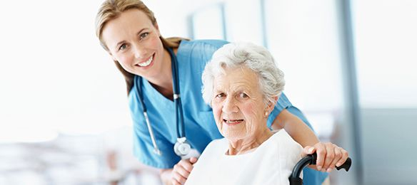 Nurse and patient at the Nowata Health Center in Nowata, OK.
