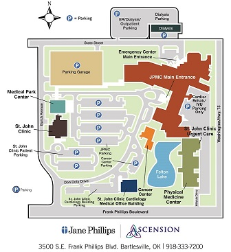 st philips campus map Campus Map Jane Phillips Medical Center St John Health System st philips campus map