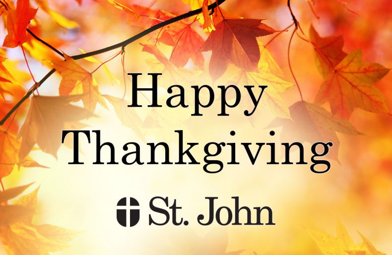 Happy Thanksgiving from St. John