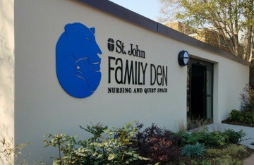 The St. John Family Den to provide a quiet space for nursing mothers, families and zoo guests