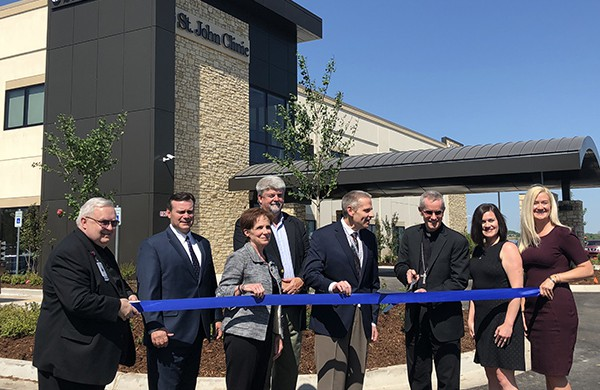 St. John Health System and City of Bixby officials gathered at a grand opening event Wednesday for a new St. John Clinic in Bixby. The 24,900-square-foot facility will provide primary care, urgent care and digital lab services. The clinic will begin seeing patients May 14.