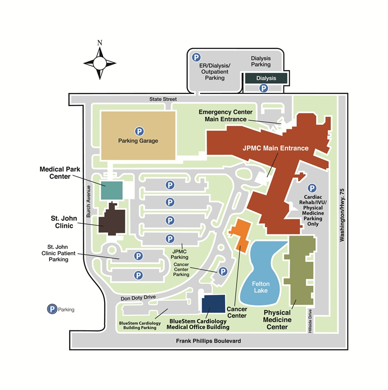Campus Map Jane Phillips Medical Center St John Health System